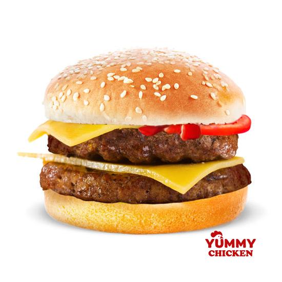Даблчизбургер с котлетой